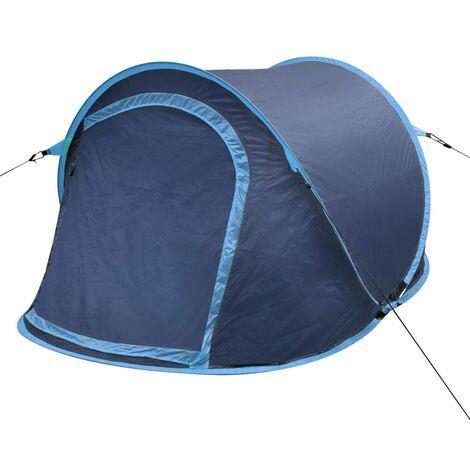 Pop-up Camping Tent 2 Persons Navy Blue / Light Blue VDTD32106