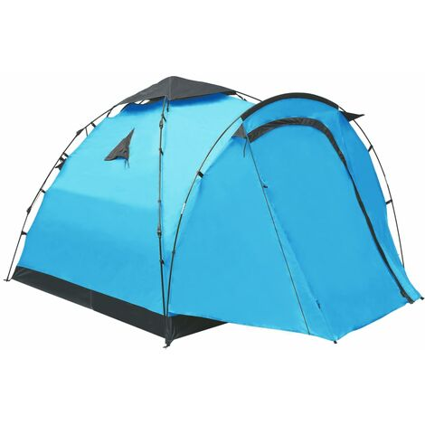 Pop Up Camping Tent 3 Person Blue - Blue