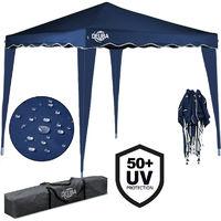 "Pop-Up Gazebo 10x10ft Awning Canopy Garden Tent ""Capri"" Blue"