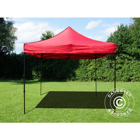 Pop up gazebo FleXtents Pop up canopy Folding tent Basic v.2, 3x3 m Red