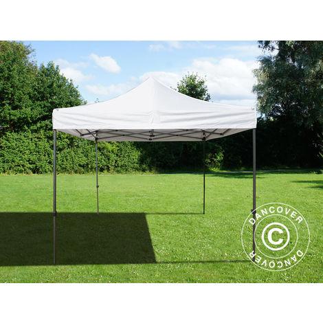 Pop up gazebo FleXtents Pop up canopy Folding tent Basic v.2, 3x3 m White