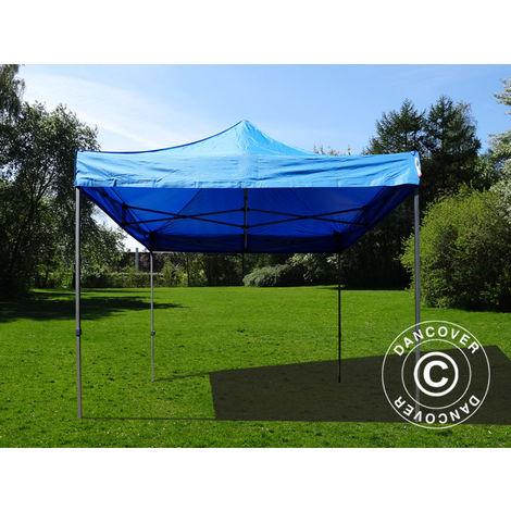 Pop up gazebo FleXtents Pop up canopy Folding tent Basic v.2, 4x4 m Blue