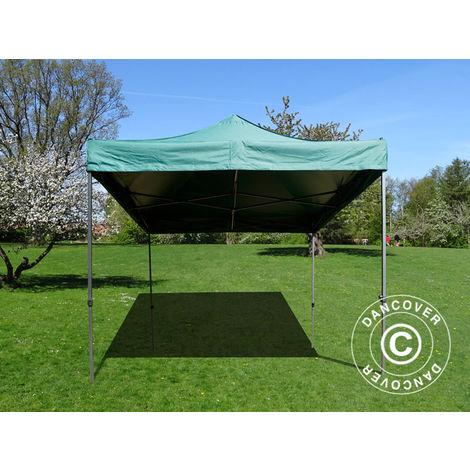 Pop up gazebo FleXtents Pop up canopy Folding tent Basic v.2, 4x4 m Green