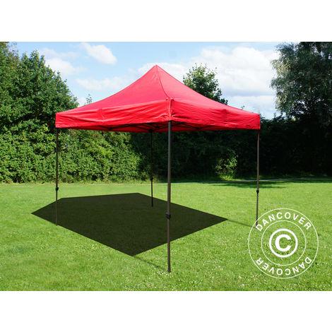 Pop up gazebo FleXtents Pop up canopy Folding tent Basic v.2, 4x4 m Red