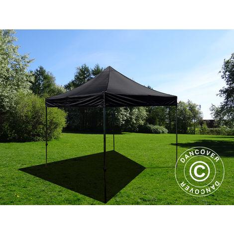 Pop up gazebo FleXtents Pop up canopy Folding tent Basic v.3, 3x3 m Black
