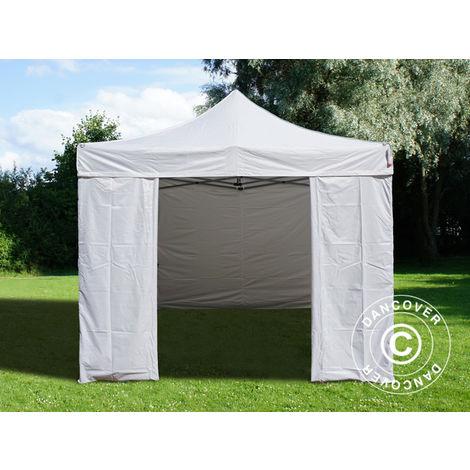 Pop up gazebo FleXtents Pop up canopy Folding tent Basic v.3, 3x3 m White, incl. 4 sidewalls