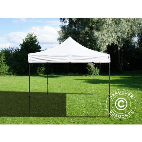 Pop up gazebo FleXtents Pop up canopy Folding tent Basic v.3, 4x4 m White