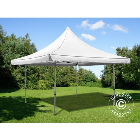 Pop up gazebo FleXtents Pop up canopy Folding tent Pagoda Xtreme 50 3x3 m / (4x4 m) White