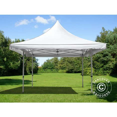 Pop up gazebo FleXtents Pop up canopy Folding tent Pagoda Xtreme 50 4x4 m / (5x5 m) White