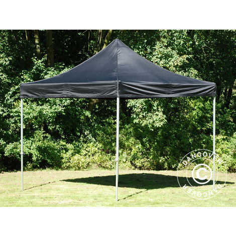 Pop up gazebo FleXtents Pop up canopy Folding tent PRO 3x3 m Black