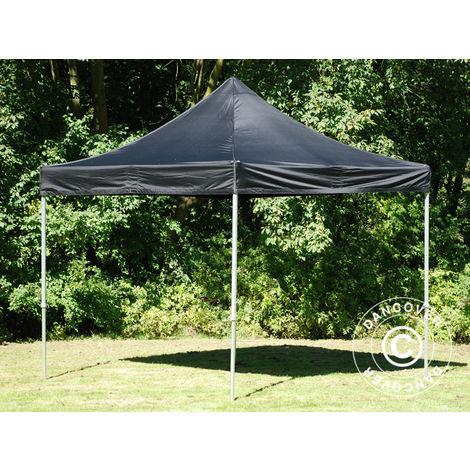 Pop up gazebo FleXtents Pop up canopy Folding tent PRO 3x3 m Black, Flame retardant