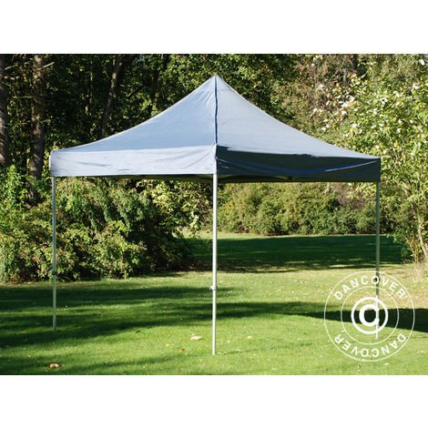 Pop up gazebo FleXtents Pop up canopy Folding tent PRO 3x3 m Grey