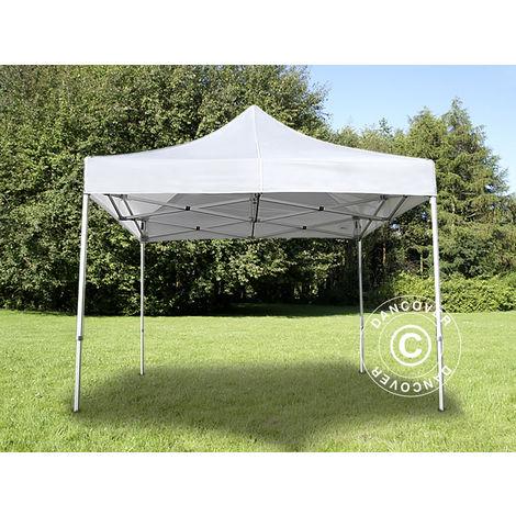 Pop up gazebo FleXtents Pop up canopy Folding tent PRO 3x3 m White
