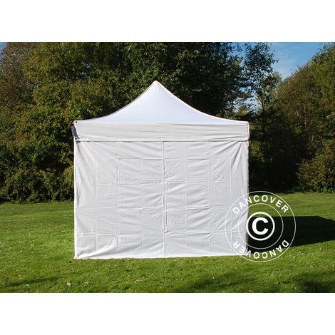 Pop up gazebo FleXtents Pop up canopy Folding tent PRO 3x3 m White, incl. 4 sidewalls