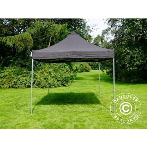 Pop up gazebo FleXtents Pop up canopy Folding tent PRO 3x4.5 m Black