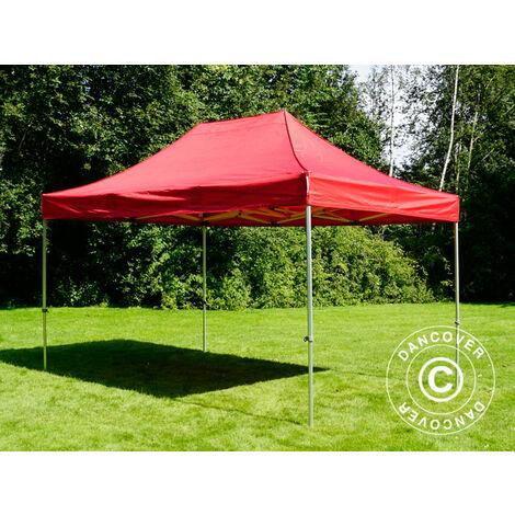Pop up gazebo FleXtents Pop up canopy Folding tent PRO 3x4.5 m Red