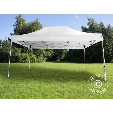 Pop up gazebo FleXtents Pop up canopy Folding tent PRO 3x4.5 m White
