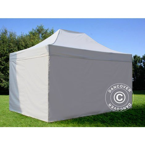 Pop up gazebo FleXtents Pop up canopy Folding tent PRO 3x4.5 m White, incl. 4 sidewalls