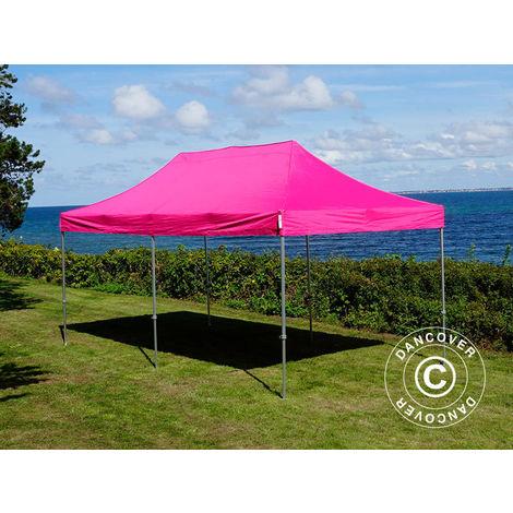 Pop up gazebo FleXtents Pop up canopy Folding tent PRO 3x6 m Pink