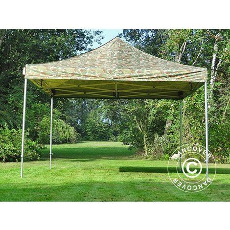Pop up gazebo FleXtents Pop up canopy Folding tent PRO 4x4 m Camouflage/Military