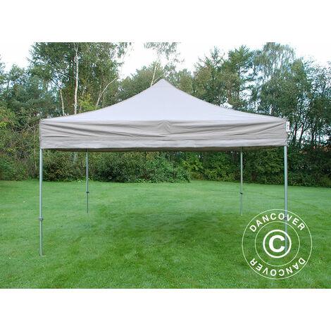 Pop up gazebo FleXtents Pop up canopy Folding tent PRO 4x4 m Latte