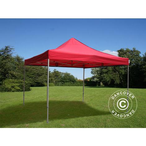 Pop up gazebo FleXtents Pop up canopy Folding tent PRO 4x4 m Red