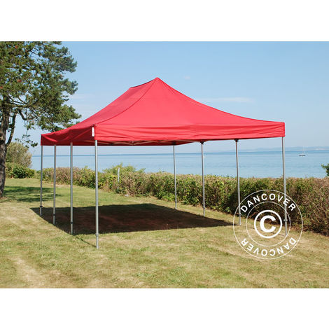 Pop up gazebo FleXtents Pop up canopy Folding tent PRO 4x6 m Red