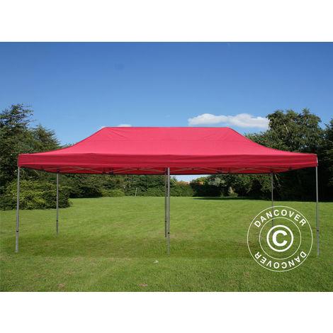 Pop up gazebo FleXtents Pop up canopy Folding tent PRO 4x8 m Red