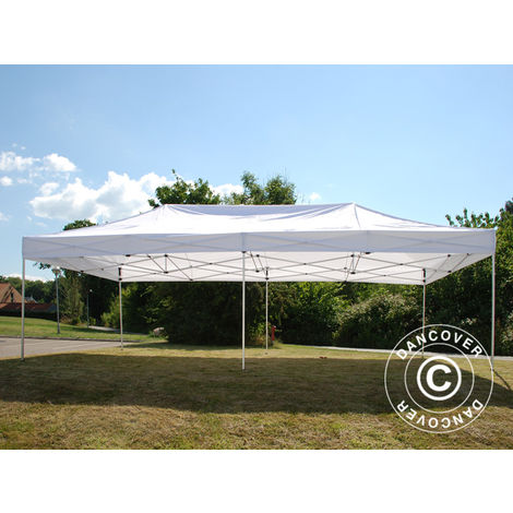Pop up gazebo FleXtents Pop up canopy Folding tent PRO 4x8 m White