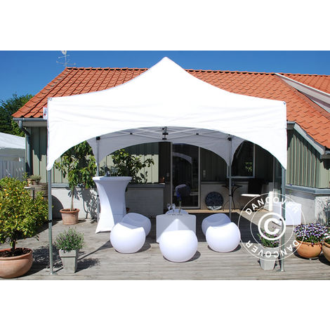 "Pop up gazebo FleXtents Pop up canopy Folding tent PRO ""Arched"" 3x3 m White"