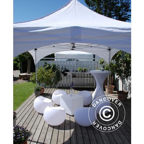 """Pop up gazebo FleXtents Pop up canopy Folding tent PRO """"Arched"""" 3x6 m White"""