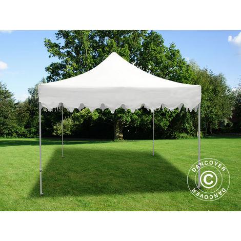 """Pop up gazebo FleXtents Pop up canopy Folding tent PRO """"Morocco"""" 3x3 m White"""