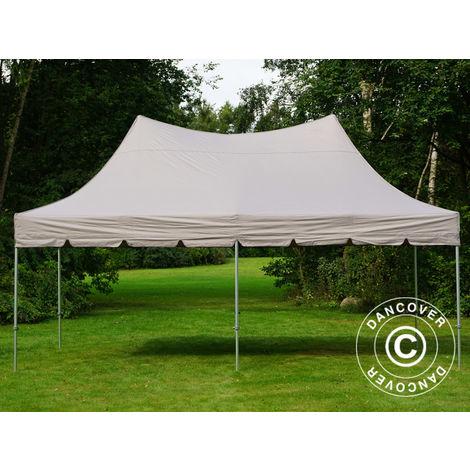 Pop up gazebo FleXtents Pop up canopy Folding tent PRO Peak Pagoda 3x6 m Latte