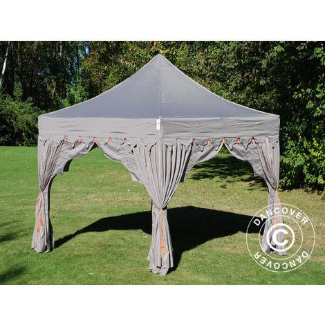 "Pop up gazebo FleXtents Pop up canopy Folding tent PRO ""Raj"" 3x3 m Latte/Orange"