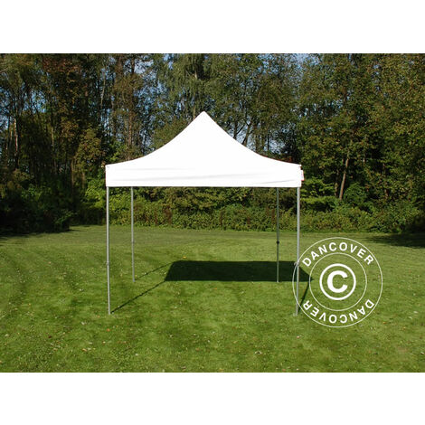 Pop up gazebo FleXtents Pop up canopy Folding tent Steel 3x3 m White