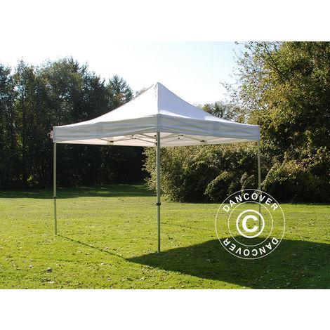Pop up gazebo FleXtents Pop up canopy Folding tent Steel 4x4 m White