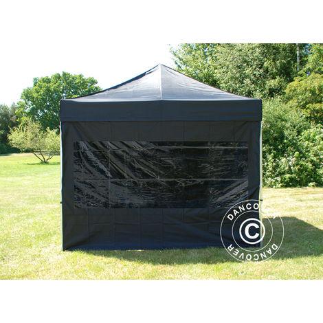 Pop up gazebo FleXtents Pop up canopy Folding tent Xtreme 50 3x3 m Black, incl. 4 sidewalls