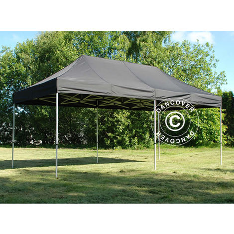 Pop up gazebo FleXtents Pop up canopy Folding tent Xtreme 50 3x6 m Black, incl. 6 sidewalls
