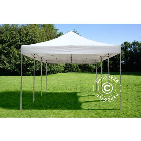 Pop up gazebo FleXtents Pop up canopy Folding tent Xtreme 50 4x6 m White, Flame retardant