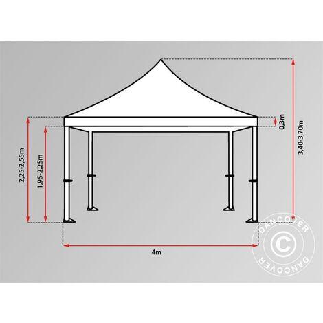 Pop up gazebo FleXtents Pop up canopy Folding tent Xtreme 60 4x8 m Red