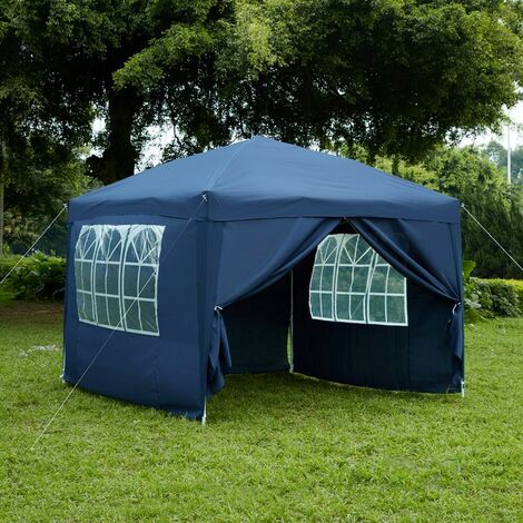 Pop Up Gazebo With Sides 2.5x2.5m, Blue