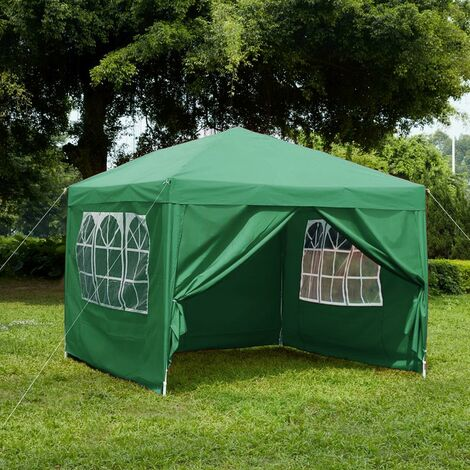 Pop Up Gazebo With Sides 2.5x2.5m, Green