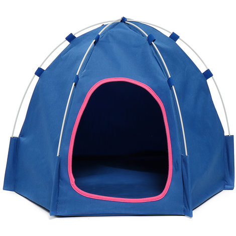 Pop Up Pop Up Dog Tent Blue Cat Hasaki