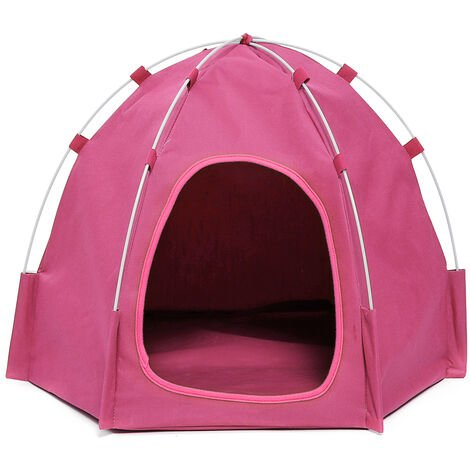 Pop Up Pop Up Dog Tent Pink Cat Hasaki