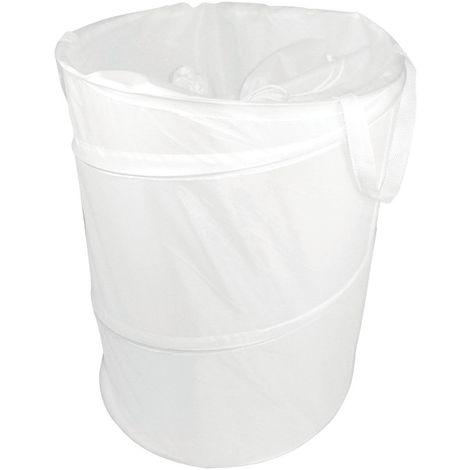 Pop up storage hamper, white, polyester