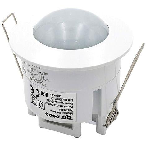 Popp- detector sensor de movimiento de techo empotrable 360º