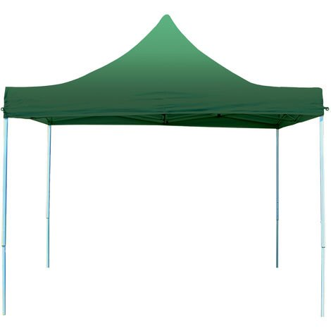 Popup Garden Gezebo 3 x 3 m - without Sidewalls in folding Canopy high performance polyester ECONOMY in green