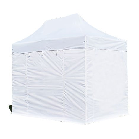 PopUp PREMIUM Gazebo 3x2 m without windows classy polyester waterproof HOUSEOFTENTS marquee party tent white