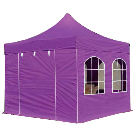PopUp PREMIUM Gazebo 3x3 m with windows classy polyester waterproof HOUSEOFTENTS marquee party tent purple