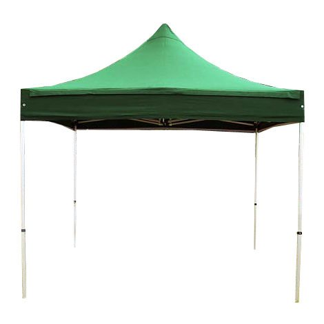 PopUp PREMIUM Gazebo 3x3 m without side panels classy polyester waterproof HOUSEOFTENTS marquee party tent darkgreen